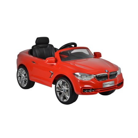 Ride On Car For Kids Bmw 4 Series 12V Red With Remote Control  Mp3 Connection  Music And Horn Sounds