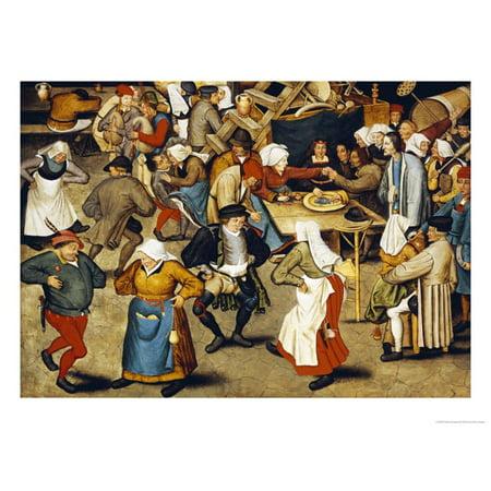 The Indoor Wedding Dance Print Wall Art By Pieter Bruegel the (The Wedding Dance Pieter Bruegel The Elder)