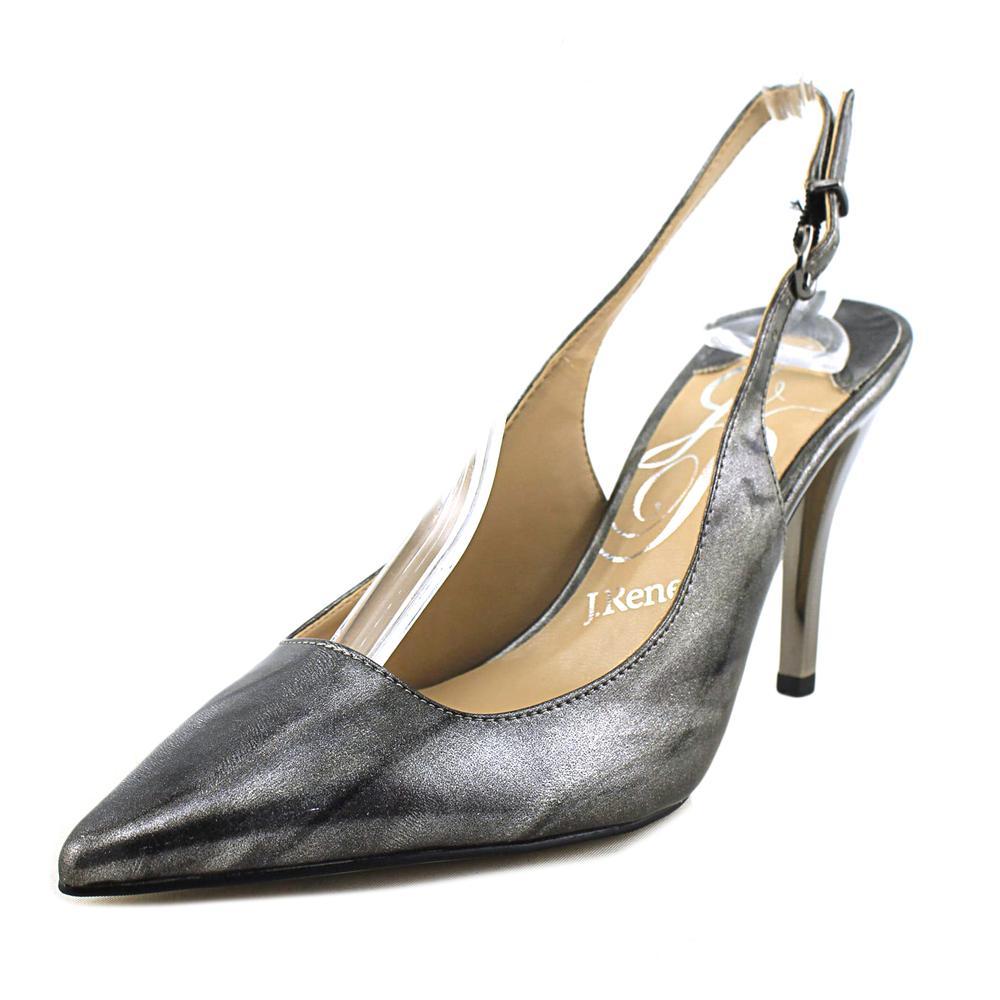 J. Renee Alsen Women Pointed Toe Synthetic Silver Slingback Heel by J. Renee