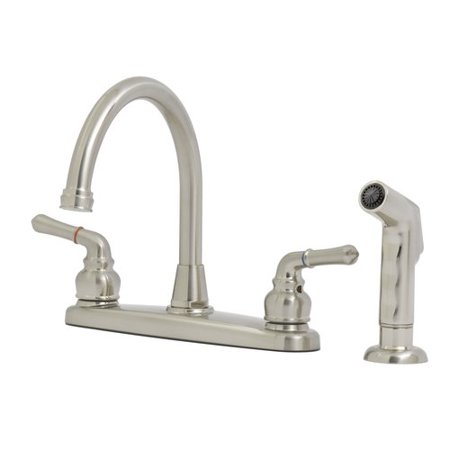 Solutions by peerless hi rise kitchen faucet satin nickel - Walmart kitchen sinks ...