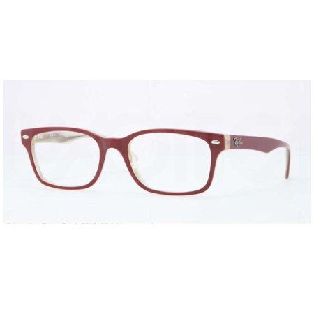 8fff8157a4 Eyeglasses Ray-Ban Optical RX 5286 5152 TOP RED ON BEIGE HORN - Walmart.com
