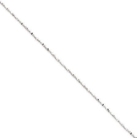 - 1.4mm Sterling Silver, Twisted Serpentine Chain Necklace