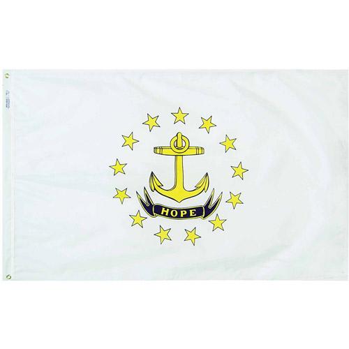 Rhode Island State Flag, 3' x 5', Nylon SolarGuard Nyl-Glo, Model# 144760