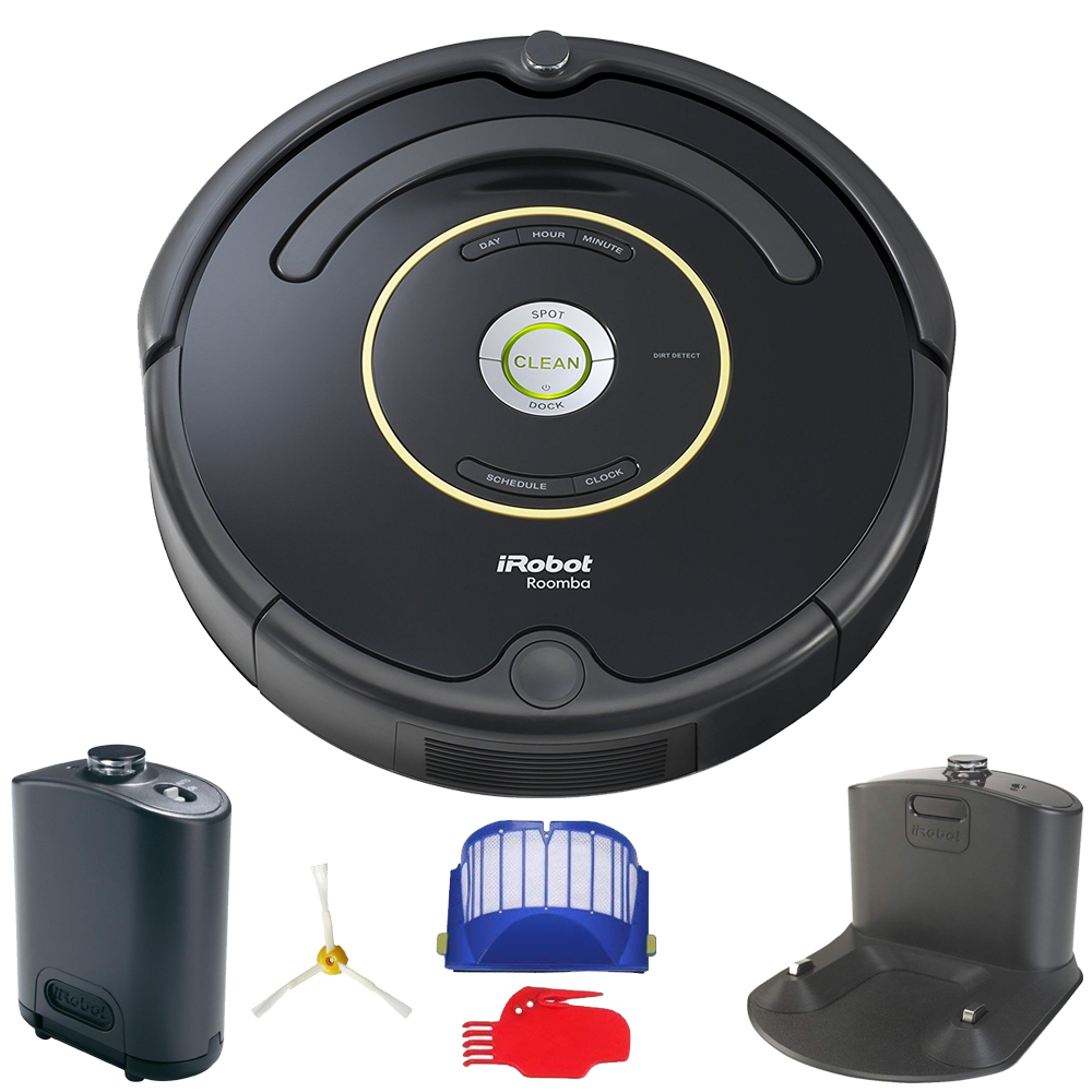 iRobot Roomba 650 Robot Vacuum (Black) (Refurbished)