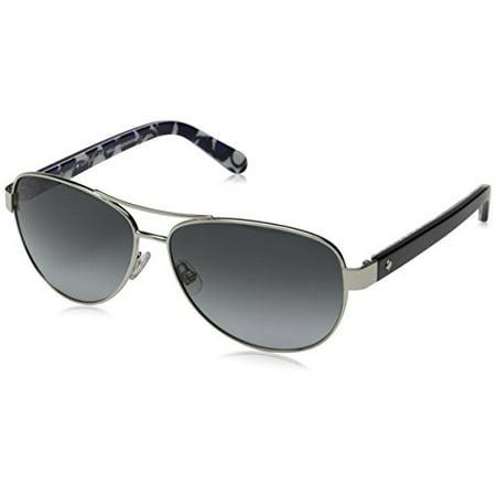 9533562c451d Kate Spade New York - Kate Spade Women's Dalia 2 Aviator Sunglasses, Silver  Dots & Gray Gradient 135 mm - Walmart.com