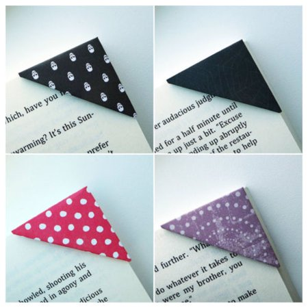 Bookmark - Set of 10 Unique Corner Bookmarks - Halloween Scare Collection](Homemade Halloween Bookmarks)