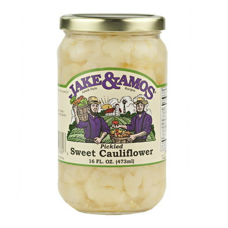 Jake & Amos Pickled Sweet Cauliflower 16 oz. Jar (2 (Pickled Sweet)