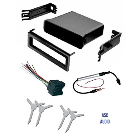 ASC Audio Car Stereo Dash Pocket Kit, Wire Harness, Antenna Adapter, on vw turn signal wiring harness, vw radio removal tool, vw bus wiring harness,