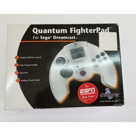 Quantum Fighter Controller for Sega Dreamcast Gamepad Programmable Auto fire (Programmable Flight Controller)