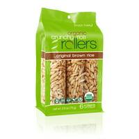 Crunchy Rice Rollers, Original Brown Rice, 6 Ct