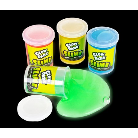 Glow Novelties Wholesale (Novelty Party Supplies Fun Express Assorted Glow in the Dark Slime Party Pack (12pc Set) (Multipack of)