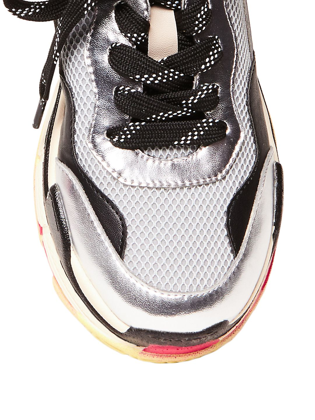 f9cb781ded1 Womens Steve Madden Nassau Lace Up Sneakers, Gray, 7.5 US