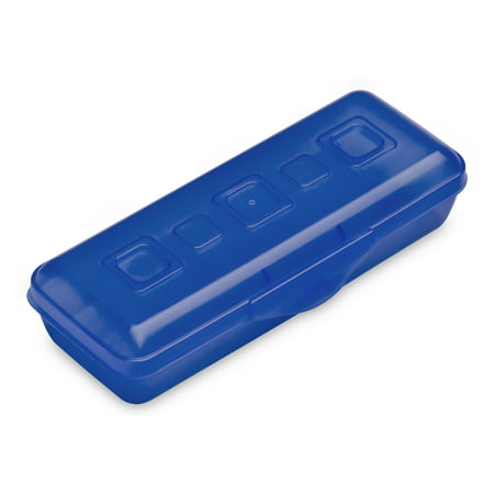 Sterilite, Mini Pencil Box, Cobalt Tint