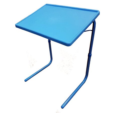 Terrific Portable Foldable Tv Tray Table Laptop Eating Drawing Tray Table Stand With Adjustable Tray With Sliding Adjustable Cup Holder Blue Home Interior And Landscaping Ologienasavecom
