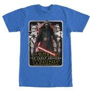 Star Wars VII: The Force Awakens Mangled Edge Mens Royal Blue T-Shirt   XL