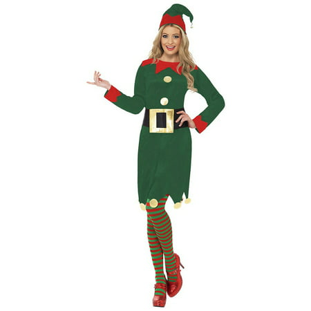 Elf Dress Adult Costume - Large - Elf Dressing Up Costume