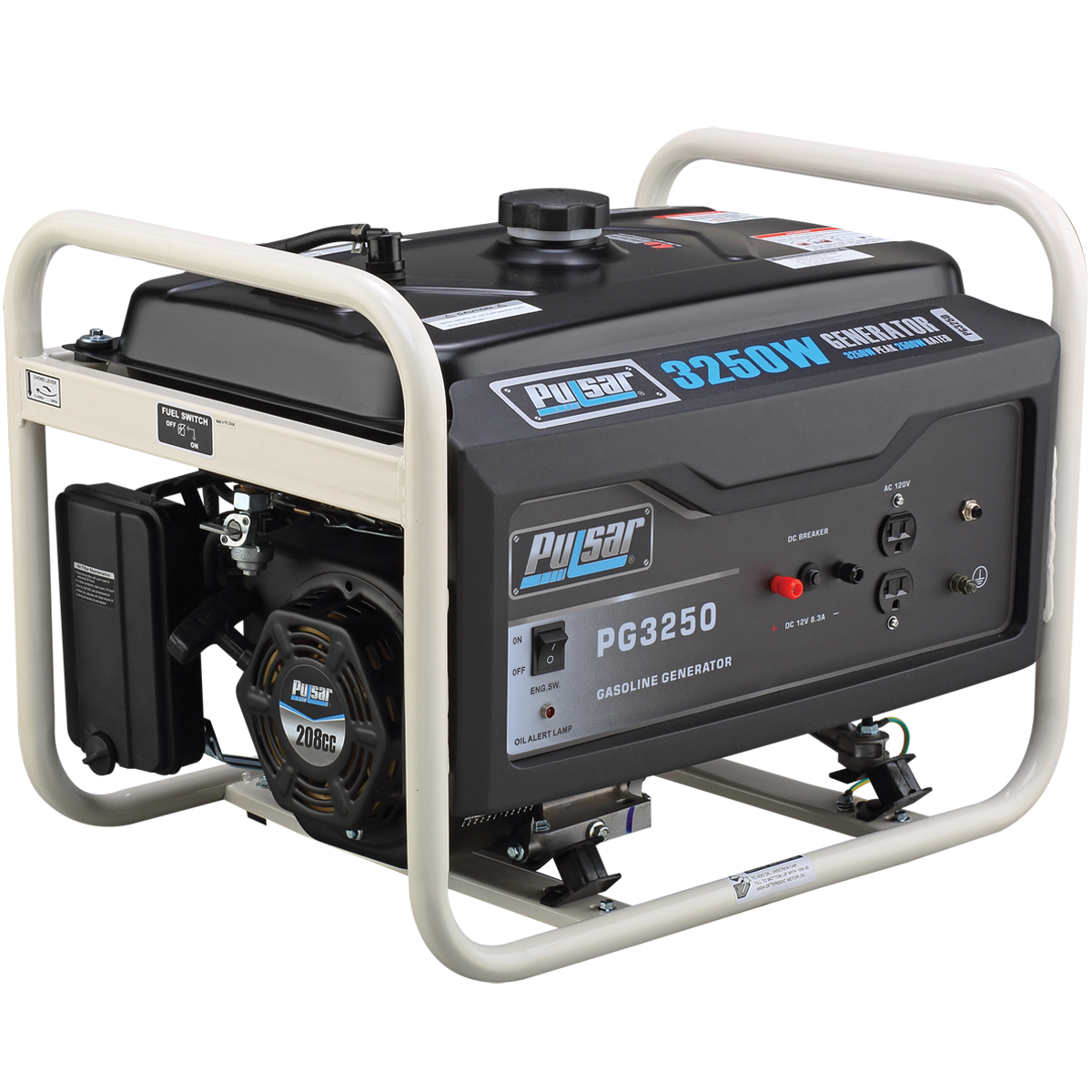 Pulsar PG3250 3250-Watt Gasoline Generator Rated 2500-Watt