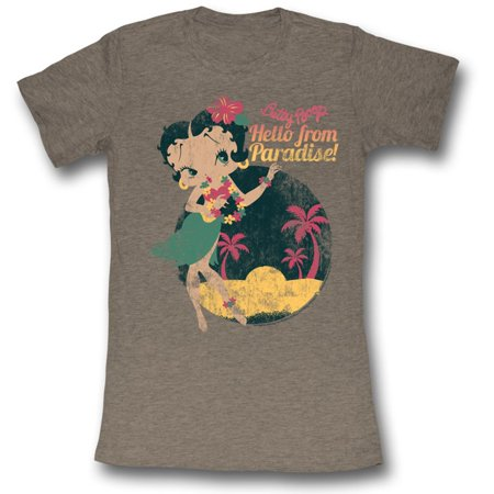 BETTY BOOP-HELLO FROM PARADISE-NATURAL JUNIORS S/S -