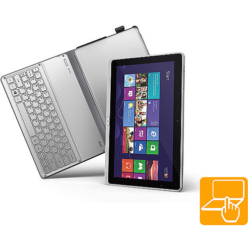 """Acer P with WiFi 11.6"""" Touchscreen Tablet PC , Featuring Windows 8 Operating System, Silver"""