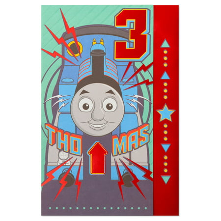 American Greetings Thomas the Tank Engine & Friends 3rd Birthday Card for Boy with Stickers