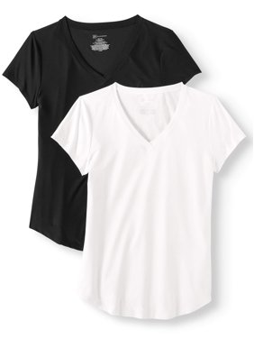 dcfc017e00f75e Product Image Juniors  Brushed Short Sleeve V-Neck T-Shirt 2-Pack