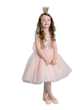 000f3cfe967e Product Image Little Girls Blush Sequined Top Tulle Flower Girl Dress.  Product TitlePrecious KidsLittle ...