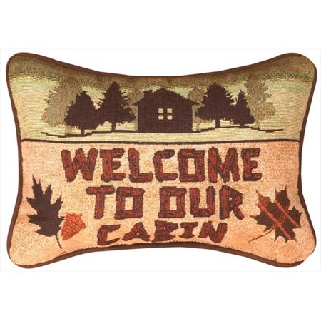 - Manual Woodworkers and Weavers TWCOTW Call Of The Wild, Welcome To Our Cabin Tapestry Pillow Lodge Collection Vivid Colors 12.5 X 8.5 in. Poly Blend