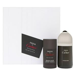 Pasha de Cartier Edition Noire for Men 2 Piece Set Includes: 3.3 oz Eau de Toilette Spray + 2.5 oz Deodorant Stick Alcohol-Free