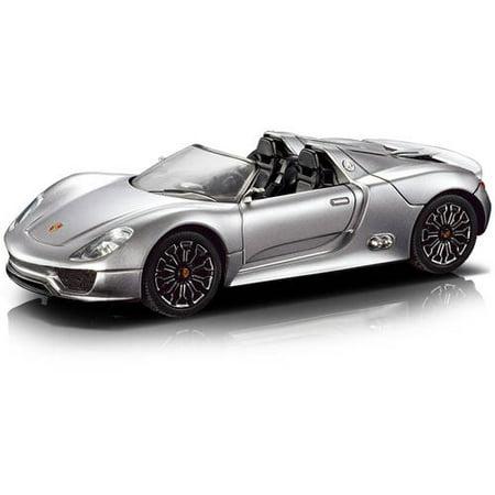Porsche Spyder, 1:18 R/C Car, Silver