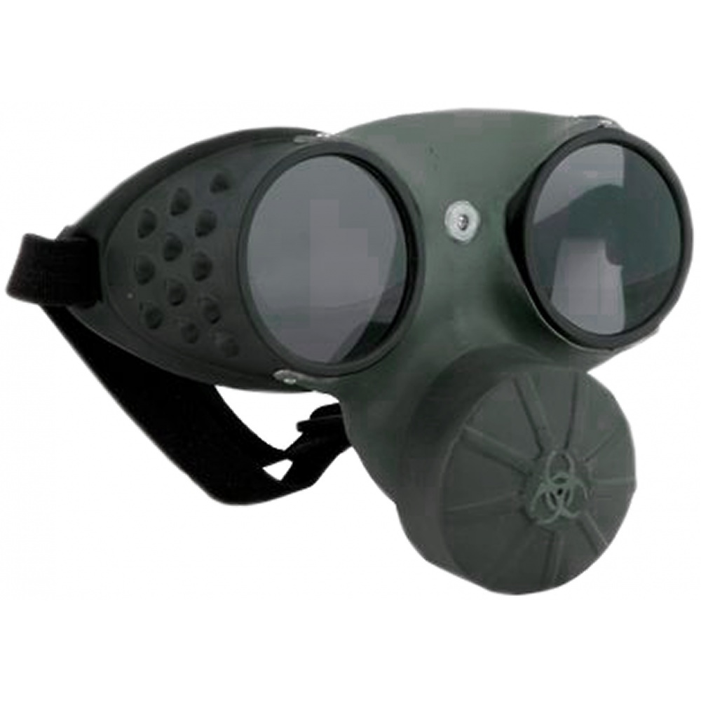 Gas Mask Glasses Adult Costume Accessory by Elope