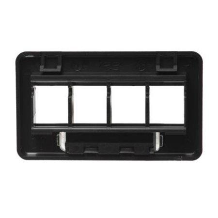 Faceplate- Furniture- Tia- 4-Port- Black Faceplate- Furniture- Tia- 4-Port- Black