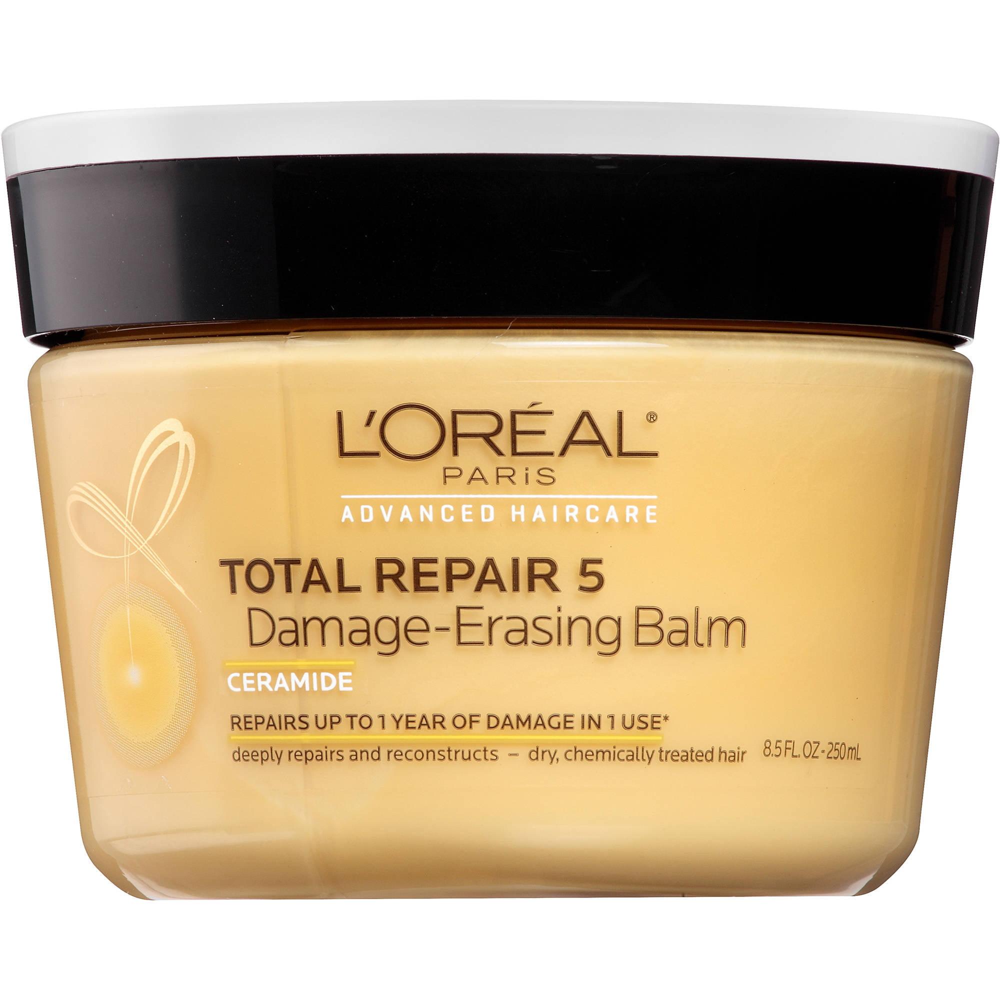 L'Oreal Paris Advanced Haircare Total Repair 5 Damage-Erasing Balm, 8.5 fl oz