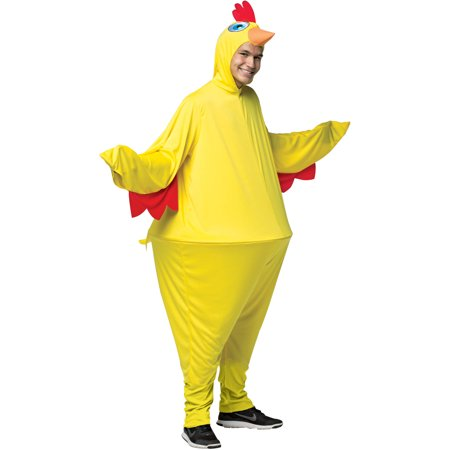Chicken Hoopster Men's Adult Halloween Costume, One Size, (40-46) - Halloween Costumes Chicken
