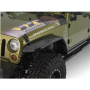 """Warrior Products S7314 10"""" Wide Front 2 And 4 Door Tube Flares With Steel Tops For Jeep Jk 07-10"""