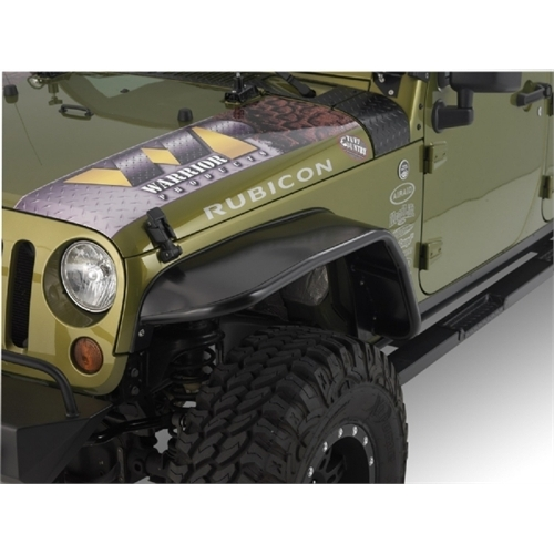 "Warrior Products S7314 10"" Wide Front 2 And 4 Door Tube Flares With Steel Tops For Jeep Jk 07-10"
