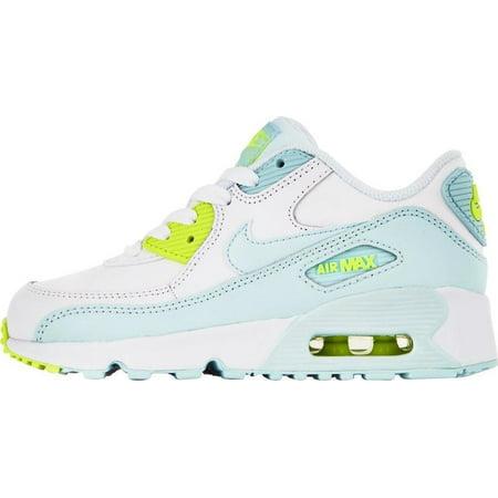 brand new 91296 97439 NIKE AIR MAX 90 LTR (PS) Girls Sneakers 833377-100 - Walmart.com