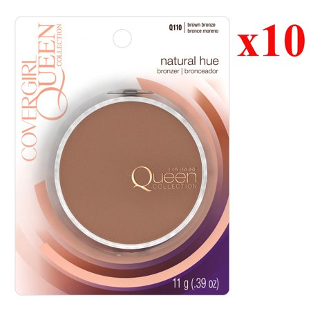 Pack 10 COVERGIRL Queen Natural Hue Mineral Bronzer Brown Bronze Q110, .39
