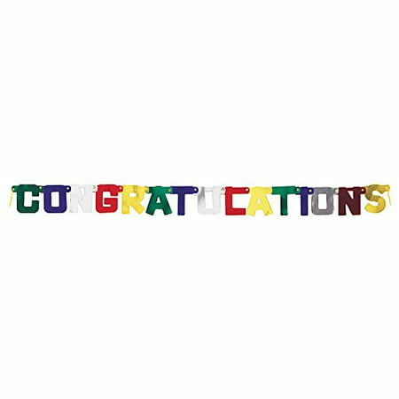 4ft Metallic Congratulations - Vbs Decoration