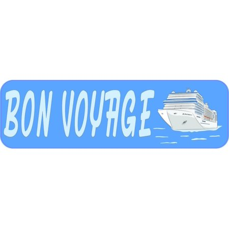 10in x 3in Bon Voyage Cruise Ship Magnet Magnetic Vehicle (Best European Cruise Ships)