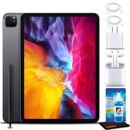 """Apple 11"""" iPad Pro (Early 2020, 128GB, WiFi, Space Gray) with AirPods 2 + More"""