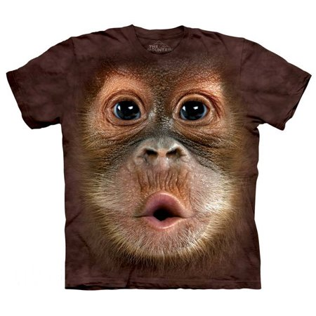 Baby Orangutan Face T-Shirt Oversized Mountain Wild Animal 100% Cotton Adult for $<!---->