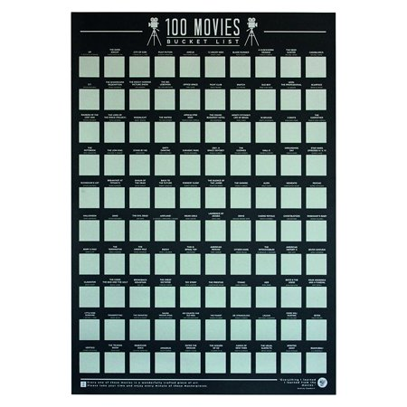 Gift Republic Bucket List Poster 100 Movies