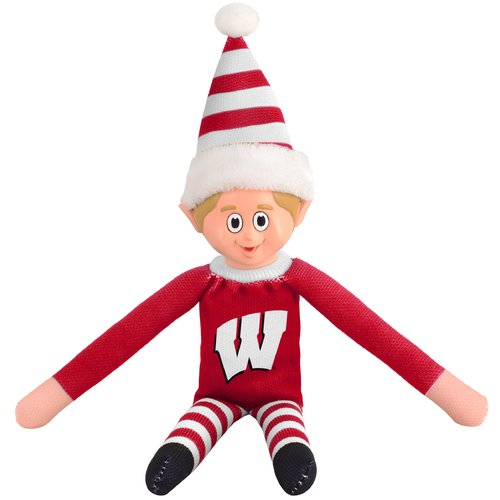 Forever Collectibles NCAA Team Elf, University of Wisconsin Badgers