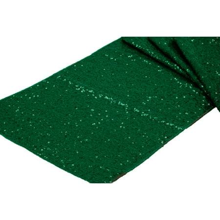 Emerald Base - Glitz Sequin Table Runner Sequin all over on Taffeta base Approx. 12