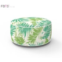FBTS Prime Outdoor Inflatable Ottoman Light Green Leaf Round Patio Foot Stools and Ottomans Portable Travel Footstool Used for Outdoor Camping Home Yoga Foot Rest