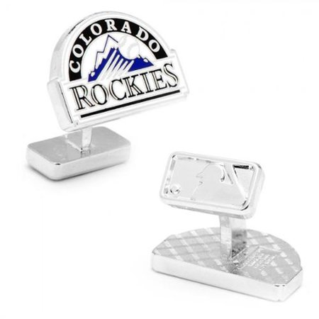 MLB Mens Palladium Colorado Rockies Cufflinks New with Gift Box PD-CLR-PP by