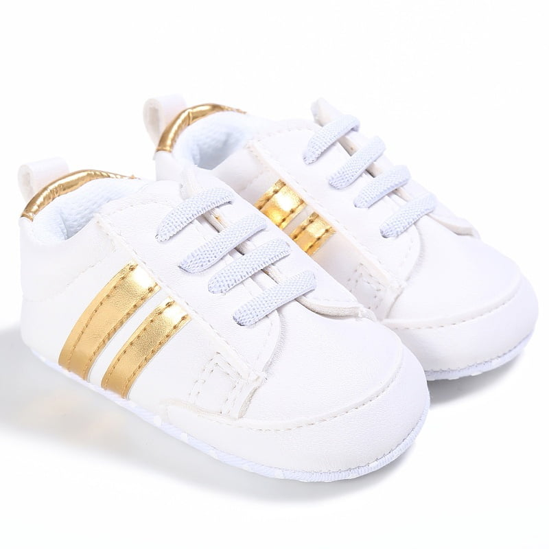 Newborn Baby Girls Boys Lace Up Crib Sport Shoes Infant Casual Soft Sole Sneaker