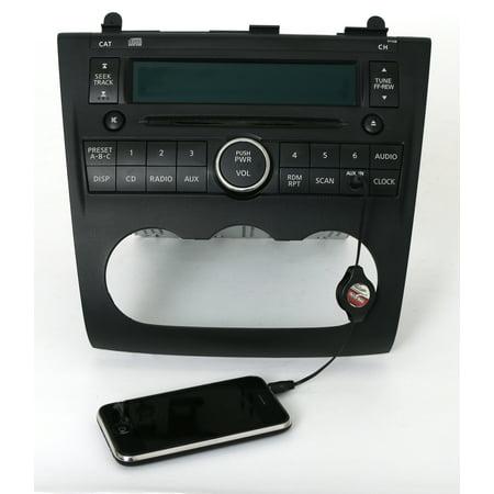 Nissan Auxiliary Input - 2007-09 Nissan Altima Radio AM FM Single CD Aux Input Part 28185JA000 Face PY13B - Refurbished