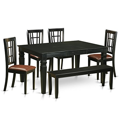 Black Kitchen Table With Bench kitchen tables with benches