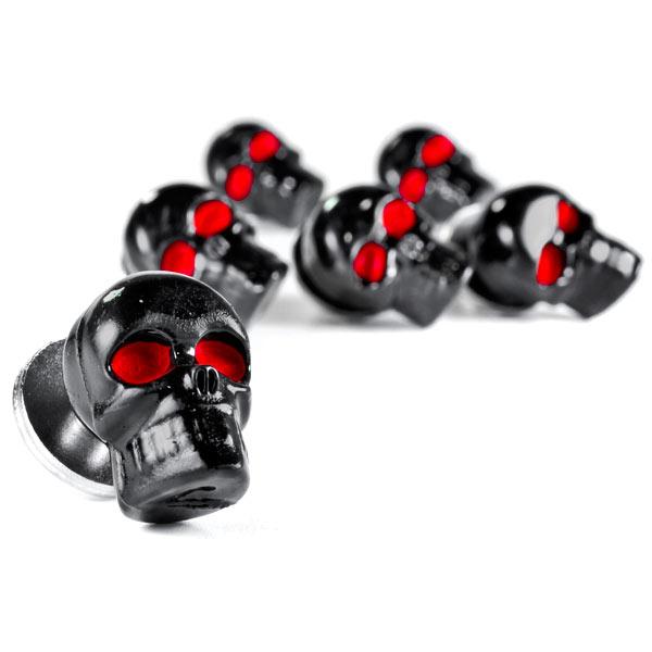 Custom Black Skeleton Skull Bolt Nuts Screws 6mm For Honda Gold Wing Goldwing 1200 1500 1800 - image 5 de 6